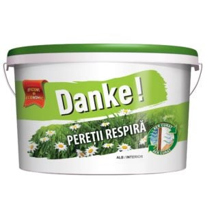 Vopsea lavabila alba pentru Danke 2 . 5L