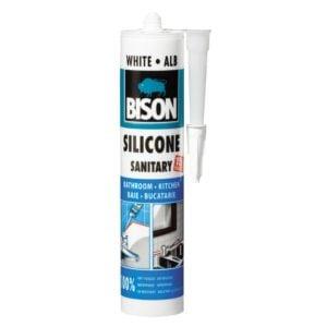 Silicon Sanitar alb 280ml 423005 bison