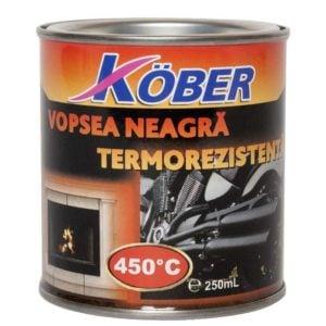 Vopsea termorezistenta neagra 0 . 25l Kober
