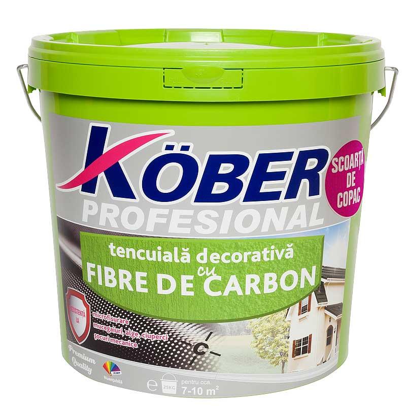 Tencuiala Decorativa Apla Pret.Tencuiala Cu Fibra De Carbon Scoarta De Copac 25kg Kober Kte8320